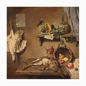 Italian Still Life Painting with Game, Fruit and Vegetables