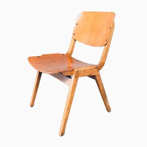 Mid-Century German Modern Stacking Chair from Thonet, 1960s, Set of 10