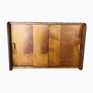 Mueble de almacenamiento de pared con puertas correderas, años 50