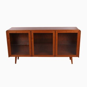 Danish Sideboard or Display Cabinet with Lighting, 1960s