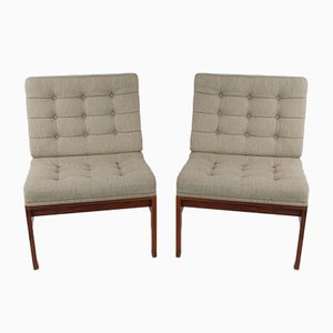 Vintage Danish Rosewood Armchairs by Ole Gjerløv-Knudsen & Tørben Lind for France & Søn, Set of 2