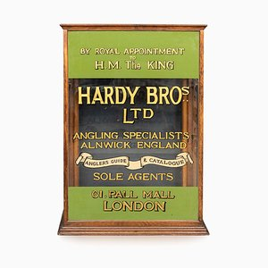 20th Century English Angling Shop Display Cabinet from Hardy Brothers, 1910s