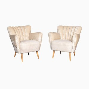 20th Century Boudoir Shell-Back Chairs, 1950s, Set of 2