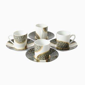 Tazas de café de porcelana de Limoges de Dana Roman para Artea, años 80