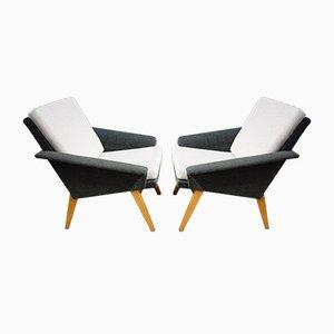 Graue Zweifarbige Stühle von Miroslav Navratil für Jitona, 1960er, 2er Set