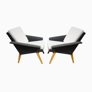 Two-Tone Gray Chairs by Miroslav Navratil for Jitona, 1960s, Set of 2