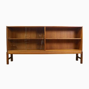 Mid-Century Teak Bookcase with Glass Doors by AH McIntosh for McIntosh