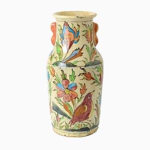 Antike orientalische Qadschar Dynastie Keramik Vase