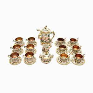 Vintage Italian China Tea Set by De Biagi Rs Marino, Set of 15