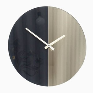 Postmodern Mirror Wall Clock from Scholer, 1980s