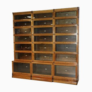 Oak Bookcase from Globe Wernicke, Set of 21