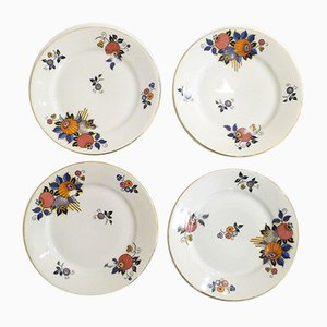 Small Art Deco Plates from Limoges, Set of 4