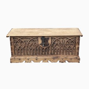 French Carved Oak Coffer or Coffee Table