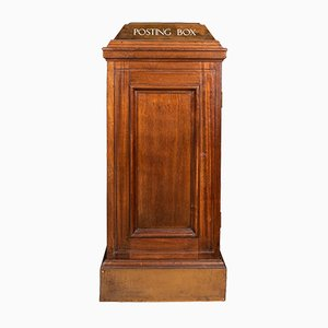 19th Century English Mahogany Indoor Post Box, 1880s