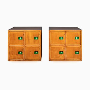 20th Century English School Lockers, 1950s, Set of 2