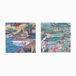 Stretched Fabric Paintings by Rubelli, Set of 2