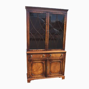 Large Mahogany Bookcase with Glazed Top, 1960s