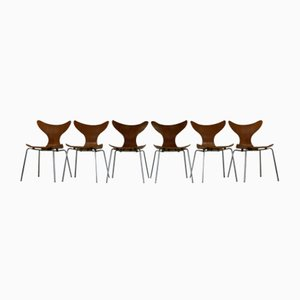 Danish Seagull Dining Chairs by Arne Jacobsen for Fritz Hansen, Set of 6