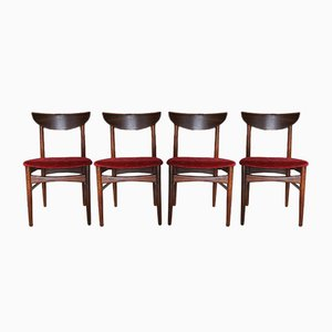 Mid-Century Rosewood Dining Chairs by Harry Østergaard for Skovby, Set of 4