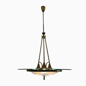 Large Chandelier by Pietro Chiesa for Fontana Arte, 1937
