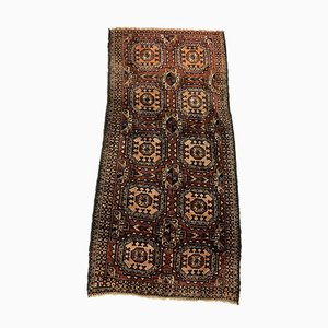Afghanischer Schwarz & Brauner Taimuri Teppich