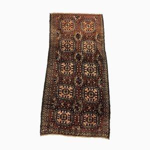 Alfombra Taimuri afgana vintage en marrón y negro