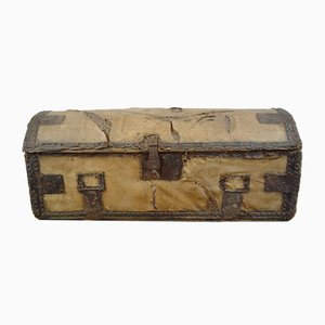 Antiker englischer Reisekoffer, 18. Jahrhundert