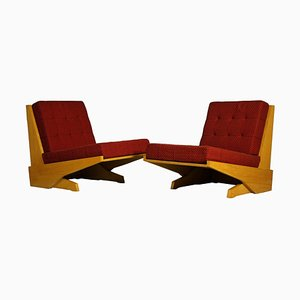 Brutalist Lounge Chairs, 1970s, Set of 2