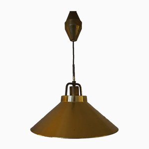 Vintage Adjustable Brass Model P295 Ceiling Lamp by Fritz Schlegel for Lyfa