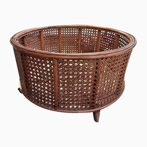Large Mid-Century Italian Wicker Planter