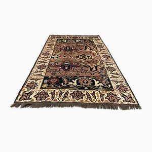 Antiker Handgeknüpfter Afghanischer Chobi Ziegler Teppich in Lila, Beige & Blau