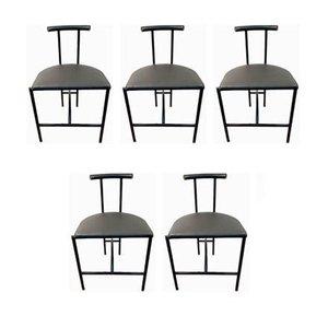 Tokyo Stühle von Rodney Kinsman für Bieffeplast, 1980er, 5er Set