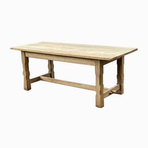 French Bleached Oak Farmhouse Refectory Dining Table