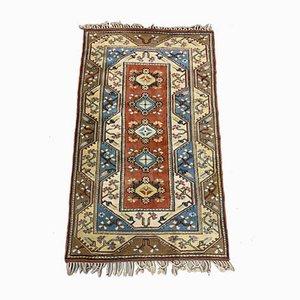 Türkiser Vintage Ushak Teppich in Blau, Beige & Rost