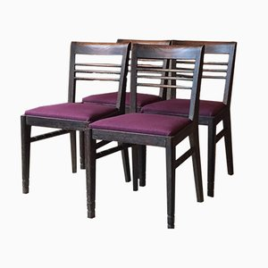 Französische Vintage Stühle, 4er Set