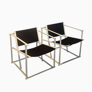 Chaises, Modèle MF 60, par Radboud van Beekum pour Pastoe, Pays-Bas, 1960s, Set de 2