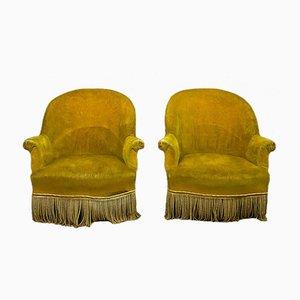 Napoleon III Tub Chairs, Set of 2
