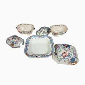 Large Earthenware Vegetable Dishes, 1930s, Set of 3