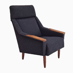 Restored Danish High-Backed Armchair, 1970s