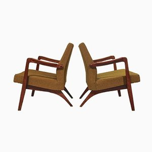 Belgian Easy Chairs by Jos de Mey for Van den Berghe Pauvers, 1955, Set of 2