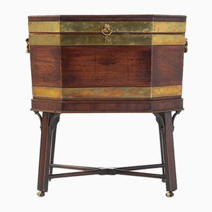 George III Brass Bound Mahogany Wine Cooler