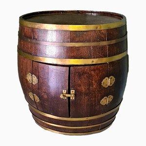 Vintage Eichenholz Barrel von Exfa