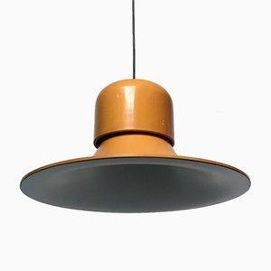 Italienische The Hat Deckenlampe in Senfgelb von Joe Colombo für Stilnovo, 1974