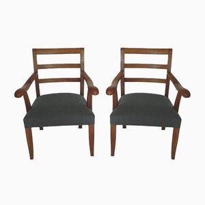 Chaises en Merisier Massif, 1970s, Set de 2