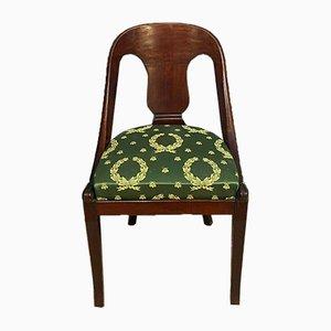 Gondola Empire Mahogany Chairs, 1900s, Set of 6