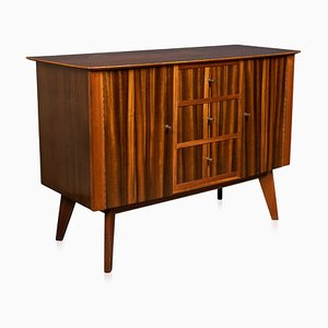 Zebra Wood Sideboard from Morris of Glasgow, Circa 1950