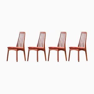 Scandinavian Chairs with Perforated Backs by Benny Linden, Set of 4