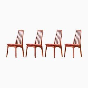 Skandinavische Stühle mit Perforierten Rückenlehnen von Benny Linden, 4er Set