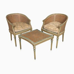 Antique Duchesse Brisée Sectional Daybed / Chaise Longue, Circa 1920, Set of 3