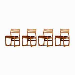 Scandinavian Chairs with Perforated Backs from Maison Portwood, Set of 4